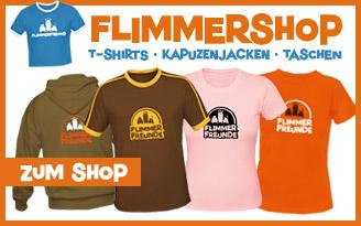 Coole T-Shirts und andere Klamotten im Flimmershop bestellen!